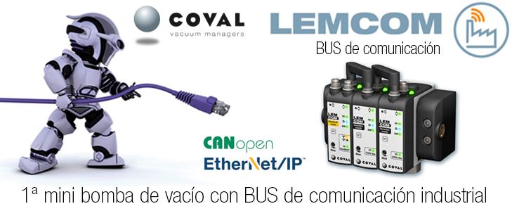 BOMBA DE VACÍO COMPACTA CON BUS DE COMUNICACIÓN ETHERNET/IP Y CANOPEN