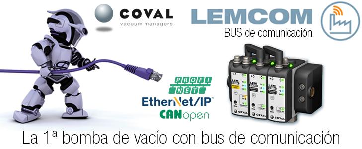 BOMBA DE VACÍO COMPACTA CON BUS DE COMUNICACIÓN, serie LEMCOM