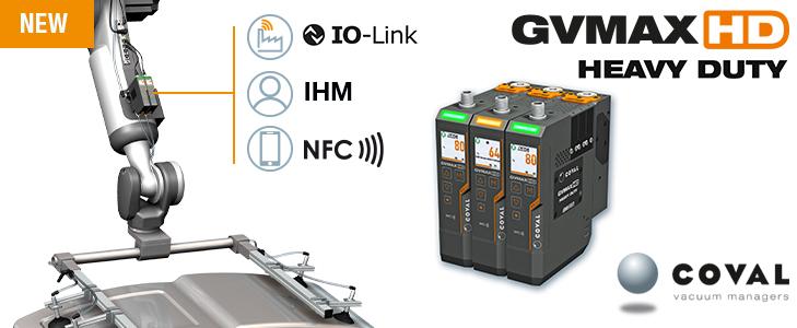 Nuevas bombas de vacío con comunicación Heavy Duty de COVAL, serie GVMAX HD