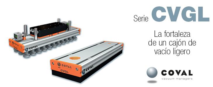 Cajones de vacío compactos y ligeros, Serie CVGL COVAL