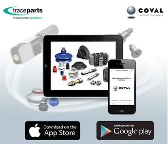 COVAL lanza su aplicación móvil con TraceParts